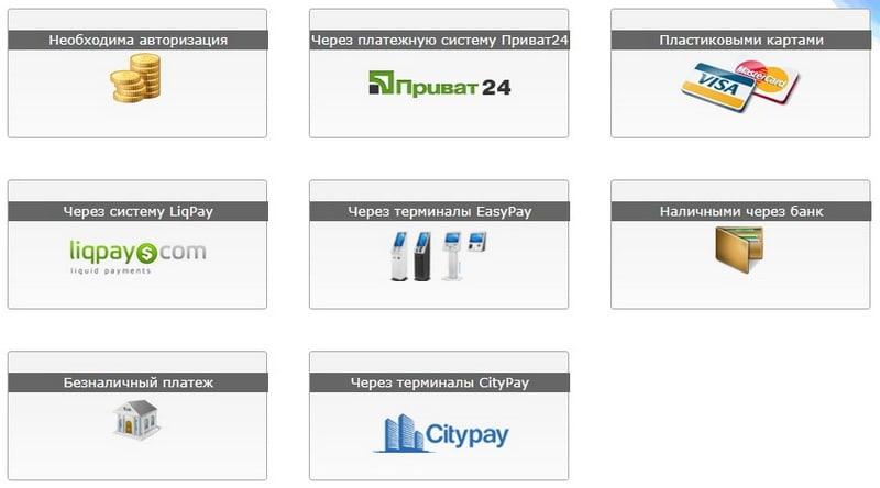 Пополнение счета Ukraine com ua