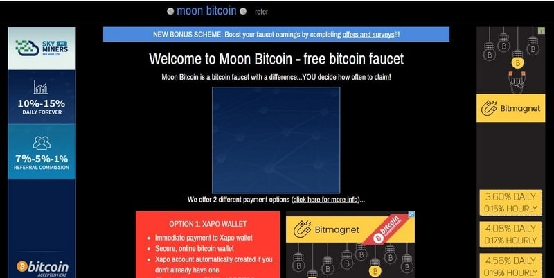 Moon Bitcoin (МунБиткоин) – регистрация, обзор и отзывы