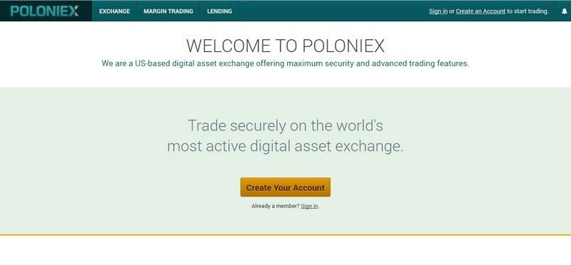 Биржа Poloniex (Полоникс) – регистрация, обзор и отзывы