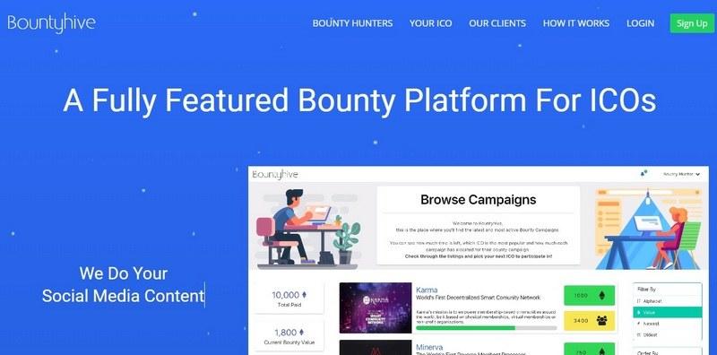 Bountyhive io (БаунтиХайв) — обзор, регистрация и отзывы