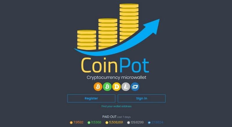 КоинПот (CoinPot co): регистрация, обзор и отзывы о кошельке