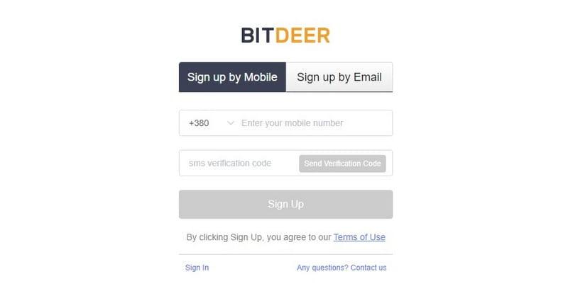 BitDeer регистрация