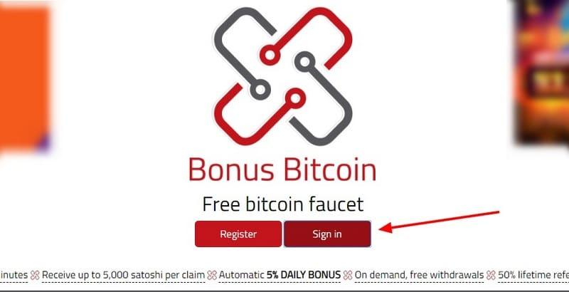 Bonus Bitcoin вход в личный кабинет