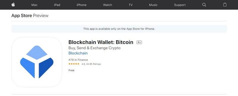 Мобильное приложение Blockchain Wallet